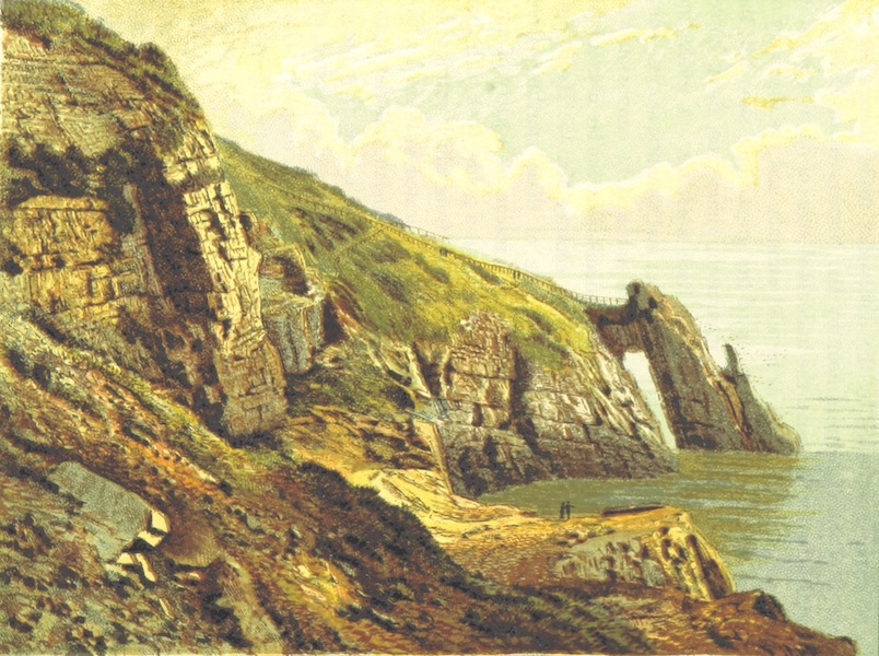 Illustrated Guide to Torquay and Neighbourhood - Natural Arch, Torquay (1884)