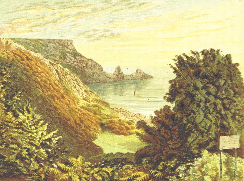 Illustrated Guide to Torquay and Neighbourhood - Anstys Cove, Torquay (1884)