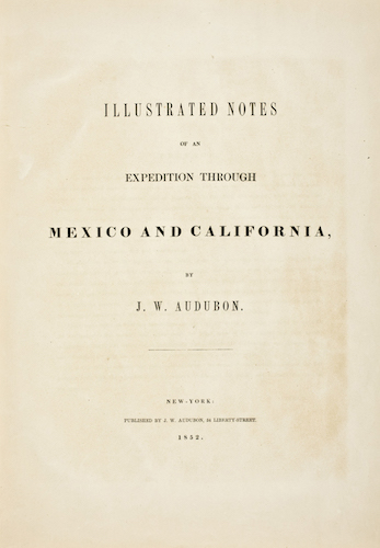 Aquatint & Lithography - Illustrated Notes of an Expedition through Mexico and California