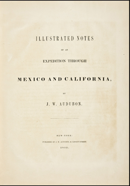 Illustrated Notes of an Expedition through Mexico and California - Title Page (1852)