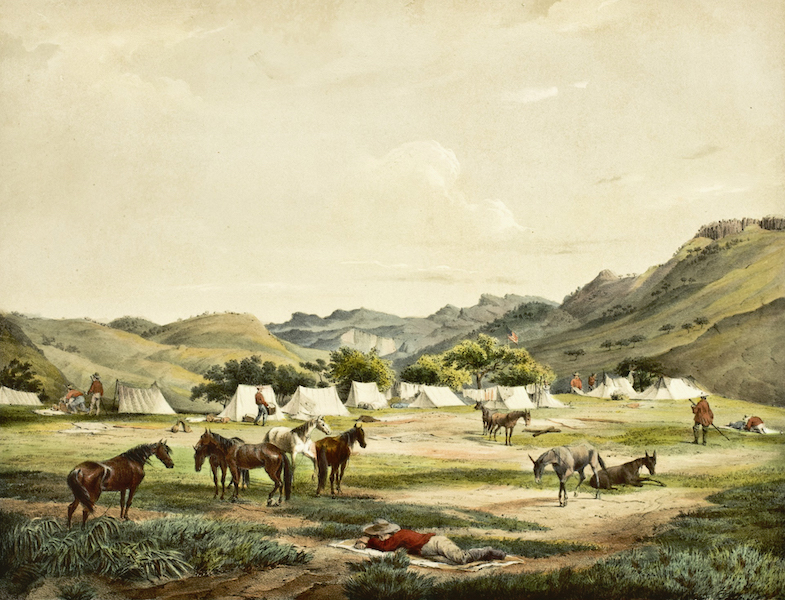 Illustrated Notes of an Expedition through Mexico and California - Fourth of July Camp (1852)