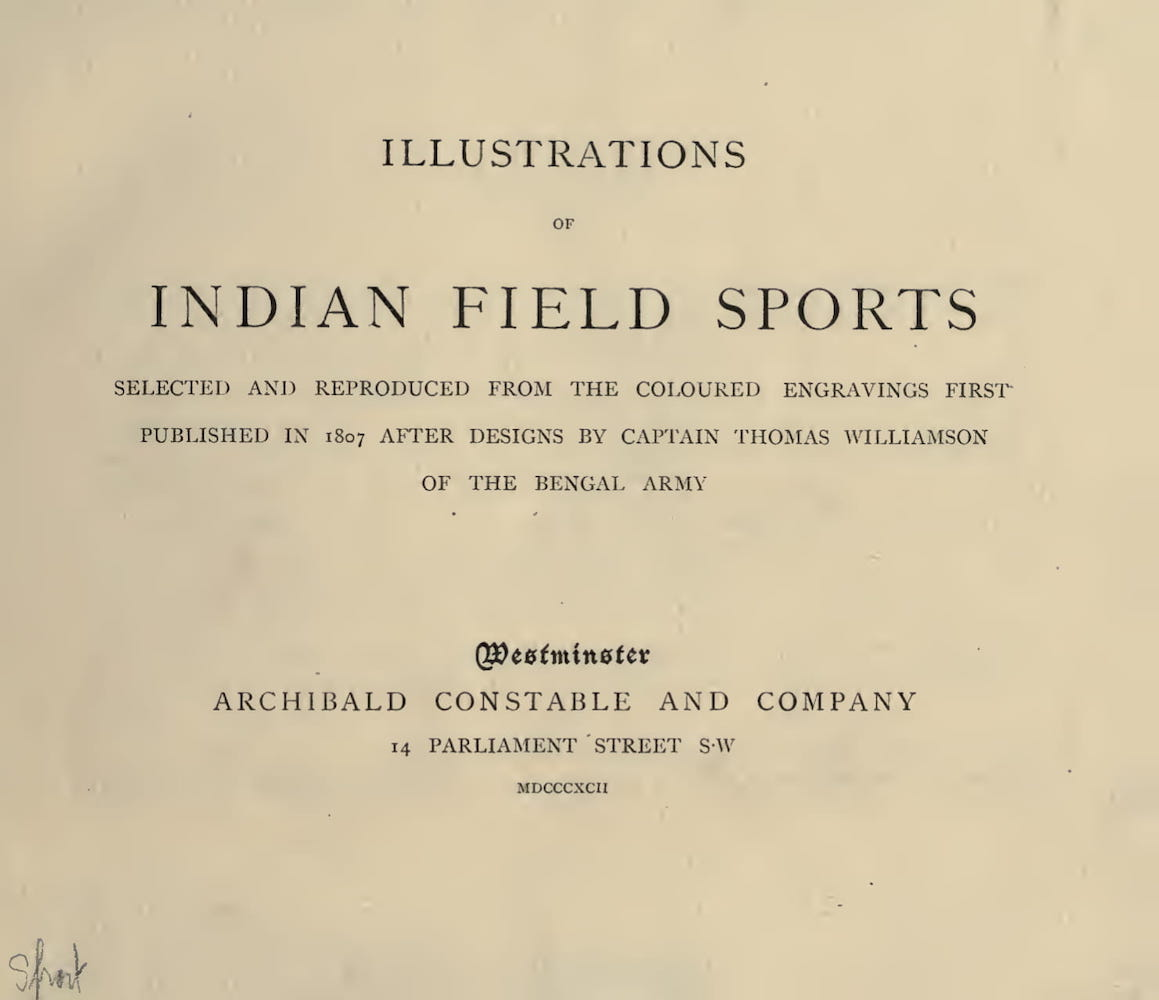 Hunting - Illustrations of Indian Field Sports
