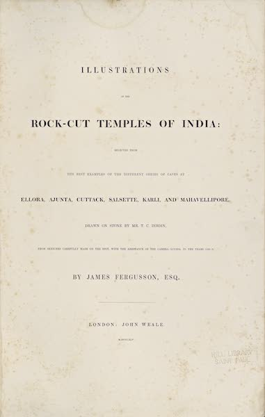 Illustrations of the Rock-Cut Temples of India [Atlas] - Title Page (1865)