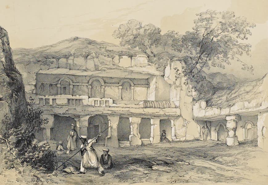 Illustrations of the Rock-Cut Temples of India [Atlas] - Exterior of a Vihara on the Udyagiri Hill (1865)
