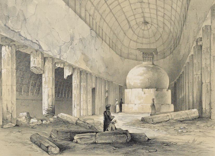 Illustrations of the Rock-Cut Temples of India [Atlas] - Interior of Chaitya Cave No. 10 (1865)