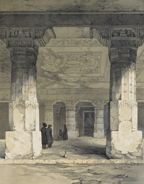 Illustrations of the Rock-Cut Temples of India [Atlas] - Interior of Vihara No. 17 (1865)