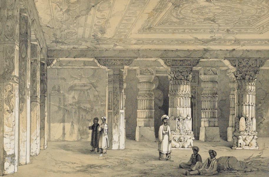 Illustrations of the Rock-Cut Temples of India [Atlas] - Interior of Vihara No. 16 (1865)