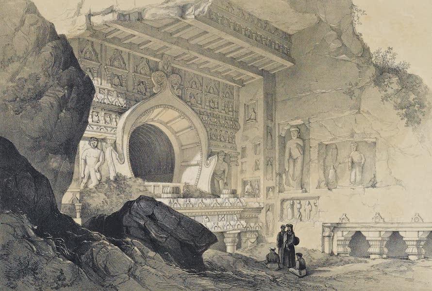 Illustrations of the Rock-Cut Temples of India [Atlas] - Exterior of Chaitya Cave No. 19 (1865)