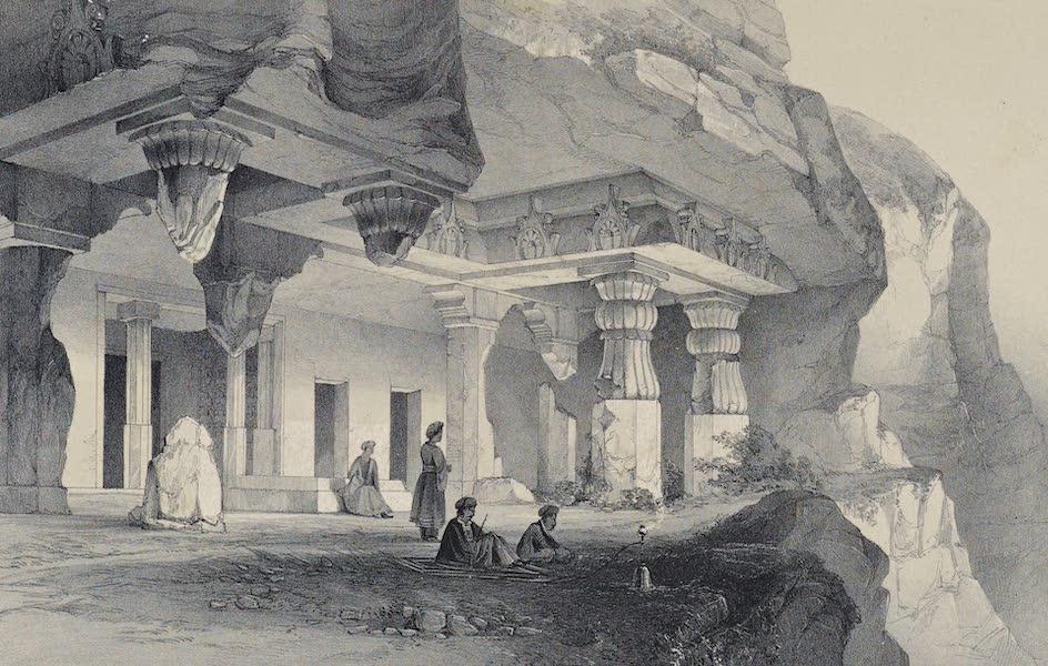 Illustrations of the Rock-Cut Temples of India [Atlas] - Vihara Cave No. 7 (1865)