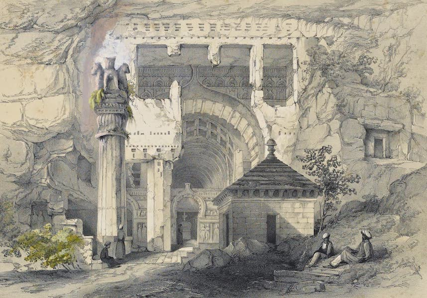 Illustrations of the Rock-Cut Temples of India [Atlas] - Entrance of Great Chaitya Cave (1865)