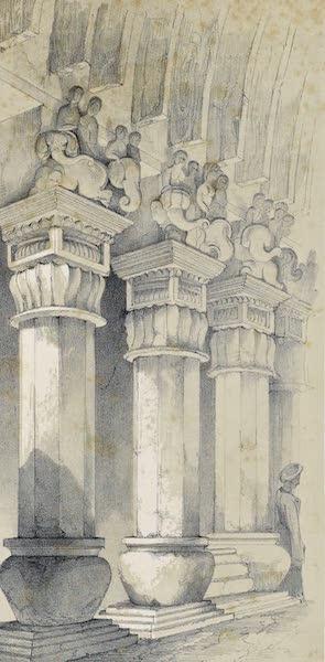 Pillars in Great Chaitya Cave, Karli