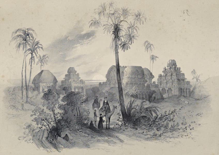 Illustrations of the Rock-Cut Temples of India [Atlas] - The Five Raths (1865)