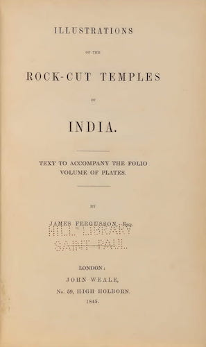 Illustrations of the Rock-Cut Temples of India [Text] (1865)