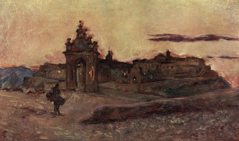 In the Track of Moors - Sunset at Toledo (1905)