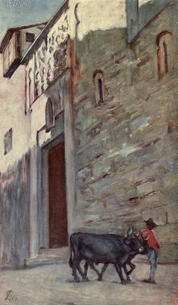 In the Track of Moors - A Street in Toledo (1905)