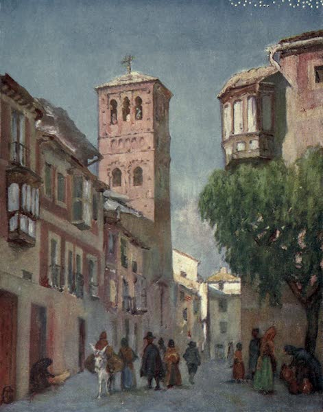 In the Track of Moors - Toledo - A Street Scene (1905)