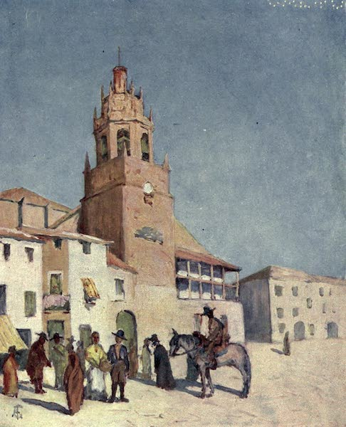 In the Track of Moors - Ronda - A Scene in the Plaza (1905)