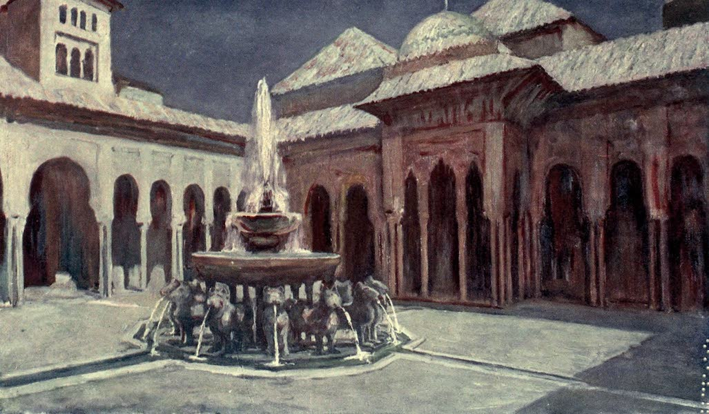 In the Track of Moors - The Court of the Lions, The Alhambra (1905)