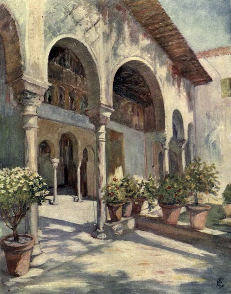 In the Track of Moors - An Arcade in the Generalife, Granada (1905)