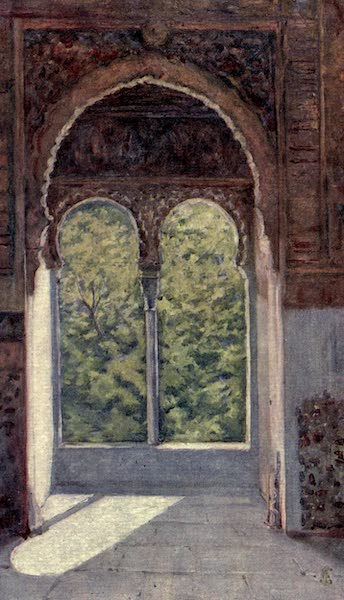 In the Track of Moors - Window of the Captive's Tower, The Alhambra (1905)