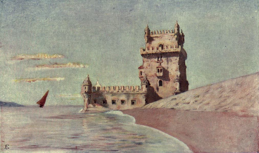 In the Track of Moors - Tower of San Vincente at Belem, Lisbon (1905)