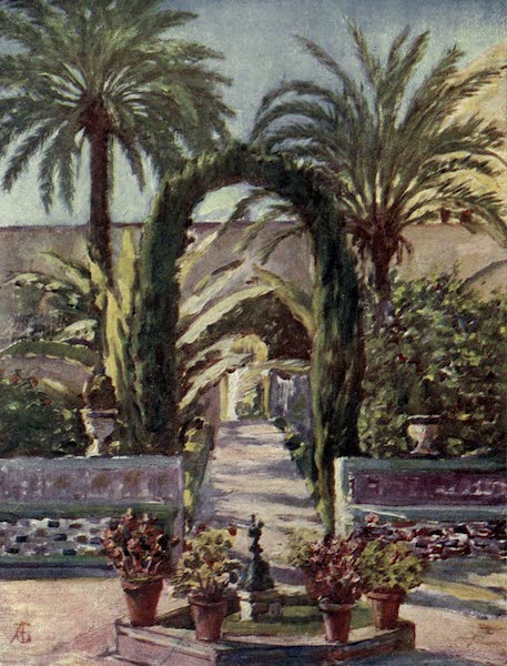 In the Track of Moors - In the Garden of the Alcazar, Seville (1905)