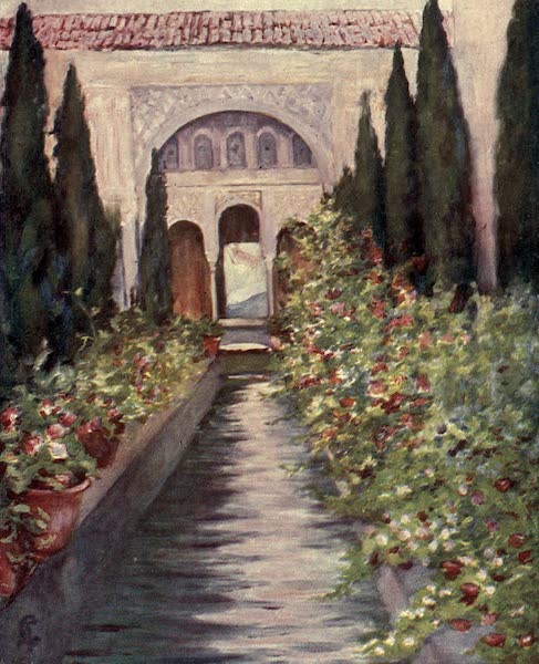 In the Track of Moors - The Canal in the Garden of the Generalife, Granada (1905)