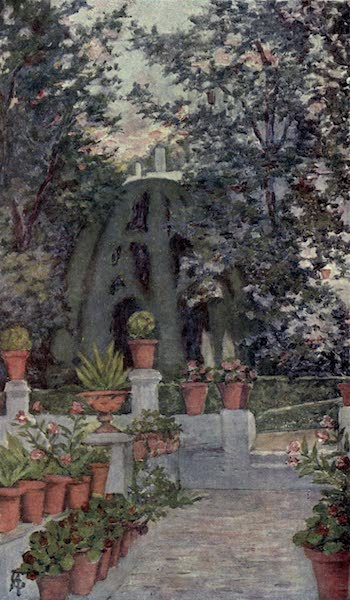 In the Track of Moors - In the Garden of the Generalife, Granada (1905)