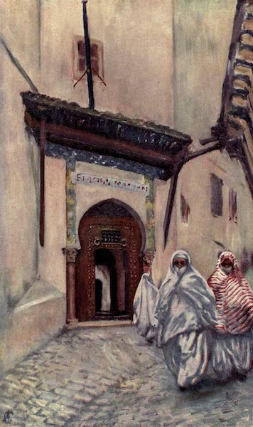 In the Track of Moors - Entrance to the Bibliotheque Nationale, Algiers (1905)