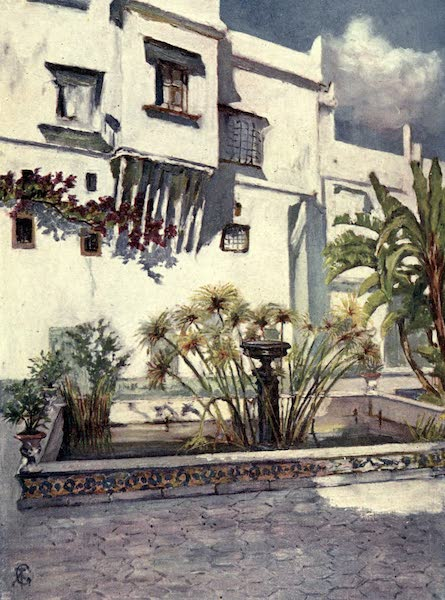 In the Track of Moors - Courtyard of the Bardo, Algiers (1905)