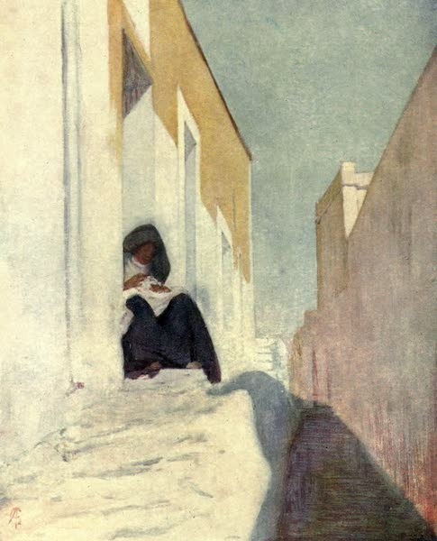 In the Track of Moors - A Street in Almeria (1905)