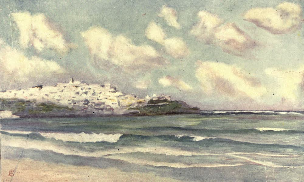 In the Track of Moors - View of Tangiers from the Beach (1905)