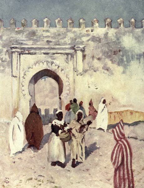 In the Track of Moors - Gate in the Old Town Wall, Tangiers (1905)