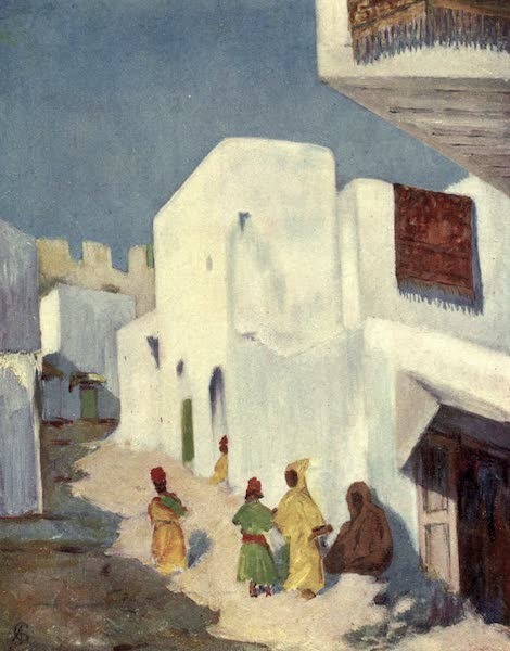 In the Track of Moors - A Street in Tangiers (1905)