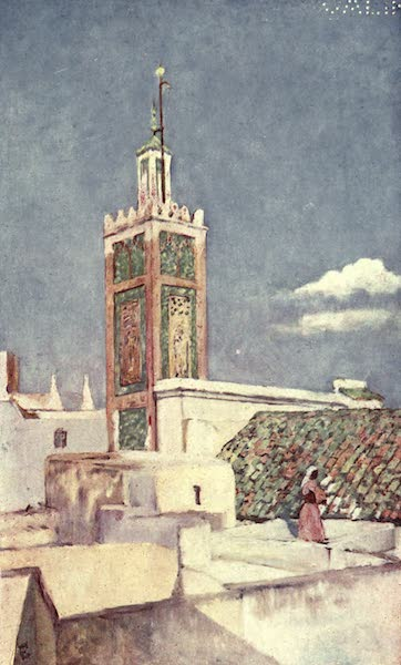 In the Track of Moors - The Minaret of the Great Mosque of Tangiers (1905)