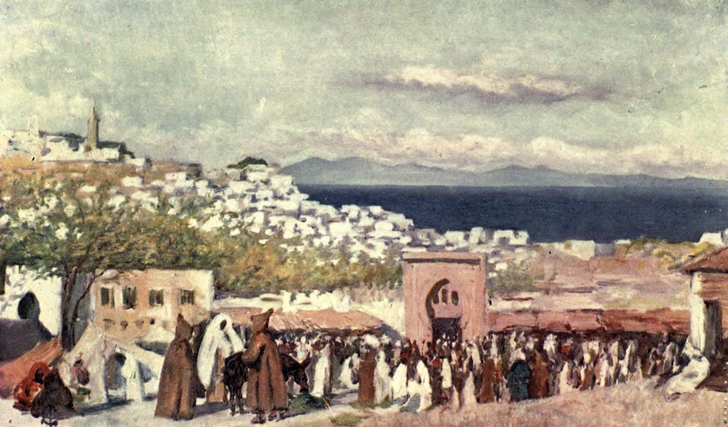 In the Track of Moors - Tangiers from the Market Place (1905)