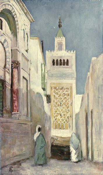 In the Track of Moors - A Street in Tunis (1905)