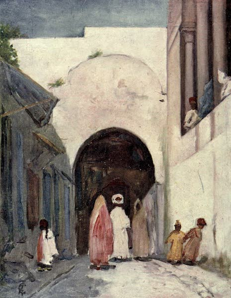In the Track of Moors - Doorway of the Great Mosque, Tunis (1905)