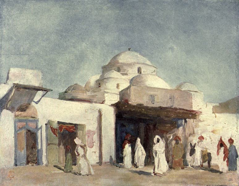 In the Track of Moors - Mosque Domes at Tunis (1905)