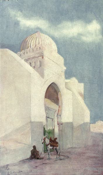 In the Track of Moors - Entrance to the Mosque of Sidi Okba, Kairowan (1905)
