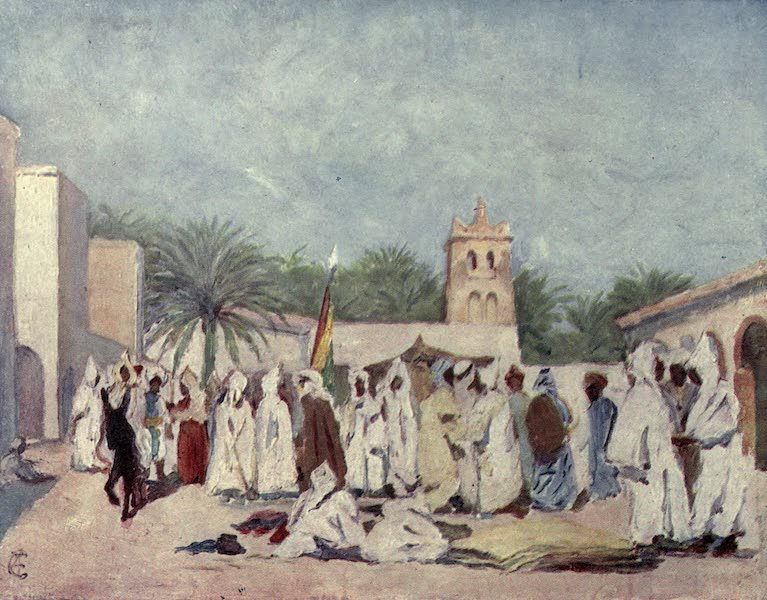 In the Track of Moors - The Market Place, Biskra (1905)