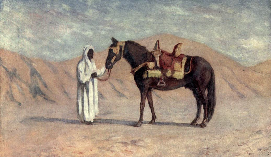 In the Track of Moors - The Horse of the Bash Aga, Biskra (1905)