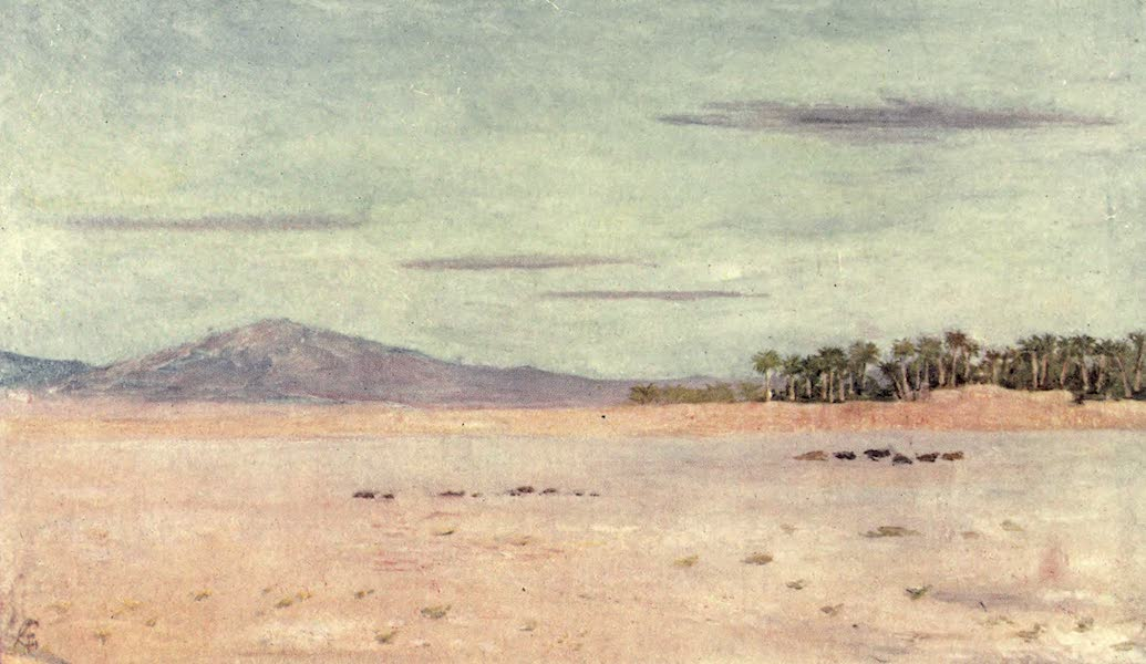 In the Track of Moors - The Desert Near Biskra (1905)