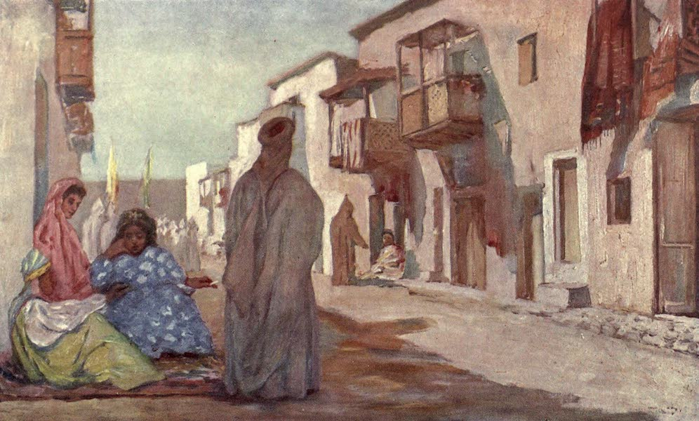 In the Track of Moors - A Street in Biskra (1905)