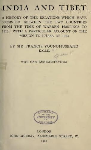India and Tibet (1910)