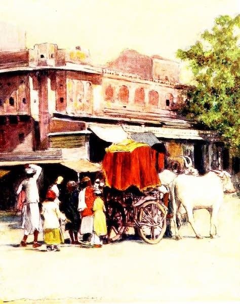 India by Mortimer Menpes - A Native Bullock-cart, Jeypore (1905)