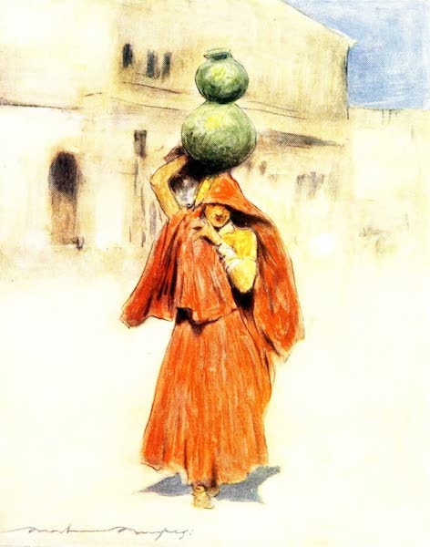 India by Mortimer Menpes - A Water-carrier (1905)