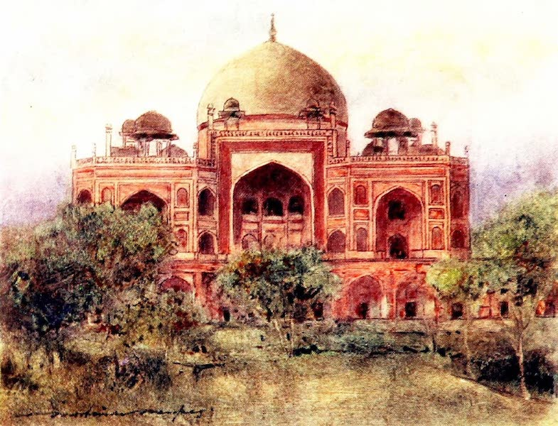 India by Mortimer Menpes - Humayun's Tomb (1905)