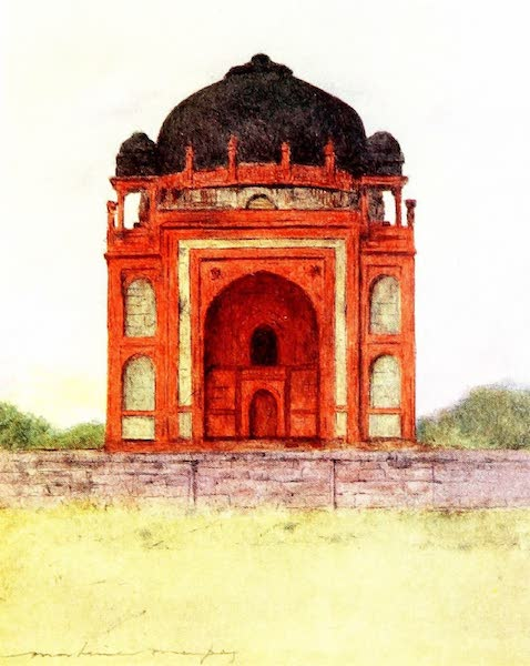 India by Mortimer Menpes - King Babar's Tomb (1905)