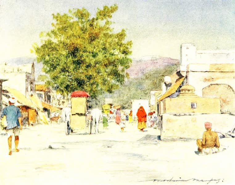 India by Mortimer Menpes - In the City of Jeypore (1905)